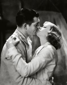 Clark Gable and Greta Garbo