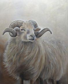 Wilma Westerlaken - Heideschaap Cute Paintings, Animal Paintings, Animal Drawings, Farm Animals, Animals And Pets, Painting & Drawing, Watercolor Paintings, Paint Your Pet, Sheep Art