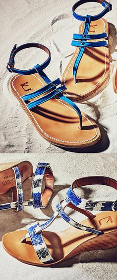 Crazy for the rich blue in these sandals!!