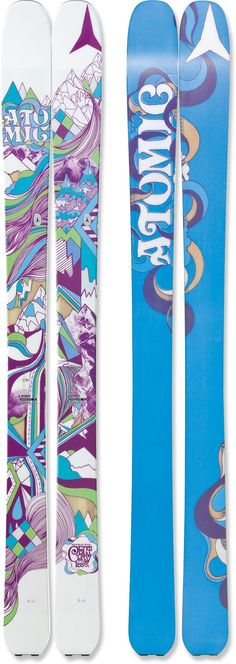 The women's Atomic Century skis offer high flotation and versatile performance as they escort you into untouched powder.