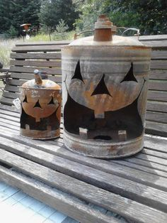 Recycle, Upcyle, Reuse, Rethink, Repurpose-Gas Can Jack-O-Lantern at Gold'n Country Gifts llc, Facebook