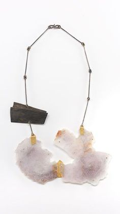 Marzia Rossi  Necklace: Untitled 2009  Shibuishi, gold, acrylic glass, mica