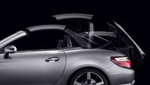 Mercedes SLK Roadster with the folding top