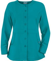 Butter-Soft Scrubs by UA™ Ladies PETITE Button Front Warm-Up Jacket