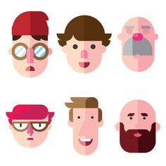 Faces by Tyler Nickell, via Behance