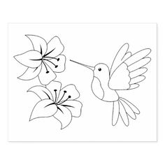 Hummingbird and Flowers Coloring Page Rubber Stamp Zazzle com is part of Flower drawing - Shop Hummingbird and Flowers Coloring Page Rubber Stamp created by Chibibi Personalize it with photos & text or purchase as is! Hand Embroidery Patterns, Embroidery Stitches, Quilt Patterns, Free Applique Patterns, Cat Applique, Free Pattern, Flower Coloring Pages, Coloring Book Pages, Simple Coloring Pages
