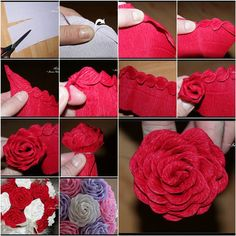 How to DIY Unique Crepe Paper Rose | iCreativeIdeas.com Like Us on Facebook ==> https://www.facebook.com/icreativeideas