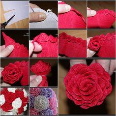 How to DIY Unique Crepe Paper Rose | iCreativeIdeas.com Like Us on Facebook ==> https://www.facebook.com/icreativeideas