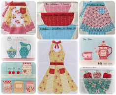 In the Kitchen ~ Paper Piecing Patterns I ♥ these lots!!!