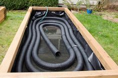 sub-irrigated raised garden bed flex drains