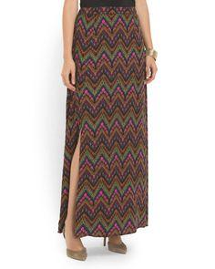 Swiss Dot Print Maxi Skirt. only 20$ at tj!!!