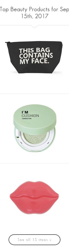 """Top Beauty Products for Sep 15th, 2017"" by polyvore ❤ liked on Polyvore featuring beauty products, beauty accessories, bags & cases, black, forever 21, makeup, face makeup, mint cream, forever 21 cosmetics and forever 21 makeup"