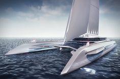 Eco Catamaran Yacht Concept 1