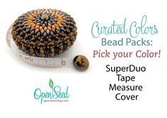 Curated Colors Bead Packs Superduo Beaded Tape Measure Covers | Etsy