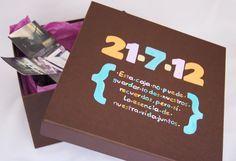 Para un bonito aniversario, esta caja con la fecha y un mensaje muy especial
