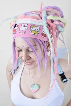 Dreads by black sunshine  Photo by luci alice photography  #pink #fakedreads #pastel