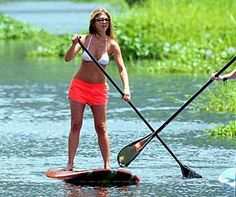 Celebrities Stand Up Paddling! PureSUP with Jennifer Aniston