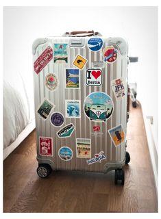 Rimowa Luggage, Travel Luggage, Travel Bags, Airport Luggage, Suitcase Stickers, Luggage Stickers, Cute Suitcases, Cute Luggage, Suitcase Bag