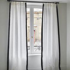 Rideau Ava Lin Uni Blanc - Maison Sarah Lavoine