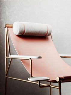 A Bunch of Ideas of Lounge Chaise Designs for Both Comfort and Style : The Minimal Rose Lounge Chair Design Handmade Furniture, Furniture Decor, Modern Furniture, Furniture Design, Furniture Inspiration, Interior Inspiration, Home Interior, Interior Design, Bedroom Minimalist
