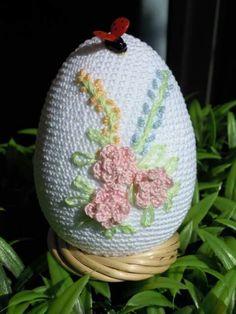 ♡ Easter Crochet Patterns, Crochet Edging Patterns, Crochet Designs, Crochet Dolls, Crochet Baby, Christmas Holidays, Christmas Ornaments, Holiday Crochet, Egg Decorating