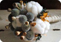 Cotton Winter Wedding Bouquet - Etsy store:  TALLCOTTONnPEAS