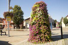 Jak ukwiecić okolice fontanny? - Inspirowani Naturą | how to put flowers around Fountain | wieże kwiatowe terra