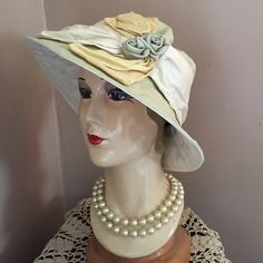 ✨VINTAGE Hat, Modeled once in CA. Stored w TLC❤️ ✨ HIGHEST QUALITY MILLINERY by Langston Bourquin!! French Garden or English, Victorian Tea Room Hat! NWT, this Vintage hat was modeled one time in California, then stored with TLC ❤️ to preserve its total & Absolutely Beautiful Original Condition!! ✨ Langston Bourquin Accessories Hats