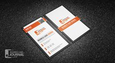 Free Professional Vertical QR Code Business Card Template => More at designresources.io