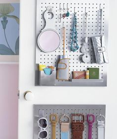 Mount a Pegboard | Closets can be the bane of your existence. Steal some ideas from those pictured here.