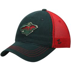 low priced 8a08a 9ef36 ... closeout mens minnesota wild zephyr green red nhl riptide slouch  trucker adjustable hat your 366be 5a211