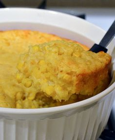 Corn casserole is a popular pin on Pinterest right now. Recipes vary and I can't argue whether or not mine is the best version, but it