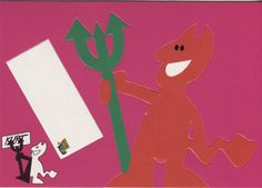 Go Card Advertising Postcard, Cut Out Devil, Soren Thaae, 2858