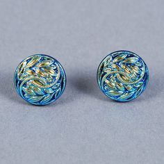 Hey, I found this really awesome Etsy listing at https://www.etsy.com/uk/listing/86611491/dichroic-glass-earrings-blue-leaf-and