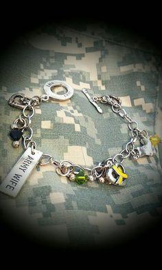 Army Wife Camo bracelet by carlyshomefront on Etsy, $25.00