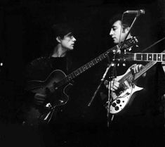 The Beatles In Germany | The Beatles In Hamburge, Germany Stuart and John on the stage together ...