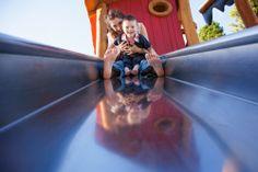 Fun family photo shoot at playground