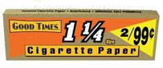 Good Times 1 1/4 Cigarette Rolling Papers - Lot Of 10 Packs