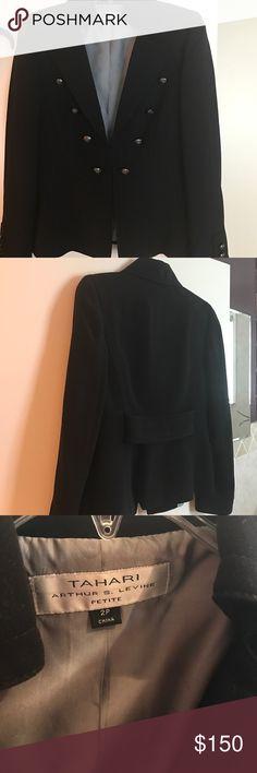 Women blazer Tahari Brand New Never Worn. In a smoke free house. No tags. Petite 2P Tahari Woman Jackets & Coats Blazers