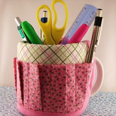 I got one of these as a gift from one of my students. It is on my desk with all my pens and things in