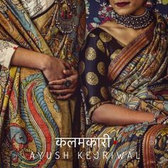 Kalmkari Sarees by Ayush Kejriwal For purchases email me at designerayushkejriwal@hotmail.com or what's app me on 00447840384707 We ship WORLDWIDE. Instagram - designerayushkejriwal