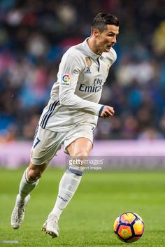 Cristiano Ronaldo of Real Madrid in action during their La Liga match between Real Madrid and Real Sociedad at the Santiago Bernabeu Stadium on 29 January 2017 in Madrid, Spain. Ronaldo Soccer, Cristano Ronaldo, Ronaldo Juventus, Cristiano Ronaldo Cr7, Real Madrid Soccer, Ronaldo Real Madrid, Champions League Semi Finals, Uefa Champions League, Portugal National Football Team