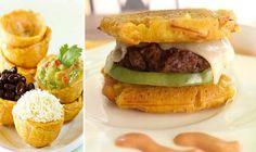This plantain hamburger will make you never want to eat bread again. 16 Delicious Plantain Recipes That Will Make Your Life Better Plantain Recipes, Banana Recipes, Plantain Bread, Dominican Food, Good Food, Yummy Food, Colombian Food, Cuban Recipes, Cooking Recipes