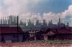 Grew up visitung this town <3.  Jack Delano (1914-1997), Steel Mills, Midland, PA, 1941