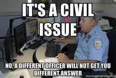 Civil matter!