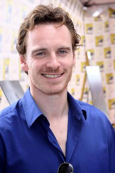 Michael Fassbender trying to smile....