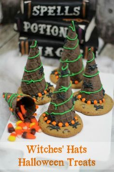 How To Make Witches Hats Halloween Treats - From Val's Kitchen