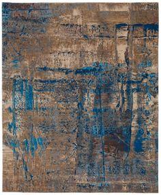 Artwork 3 rug in blue by JAN KATH (NYC)