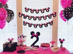 Bandiera di compleanno Minnie Mouse Minnie di ConfettiPopParty