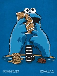 Nice t shirt for Cookie Monster and Poker / Texas Hold 'Em fans. Sesame Street Muppets, Sesame Street Characters, Funny Phone Wallpaper, Cartoon Wallpaper, Monster Art, Cookie Monster, Cartoon Caracters, Poker, Monster Illustration